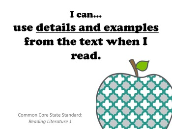"""I Can..."" 4th Grade CCSS English Standards"