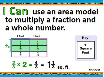 """""""I Can"""" 5th Grade Math--Updated TEXAS Version (Teal/Orange)"""