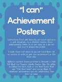 """I Can"" Achievement Posters"