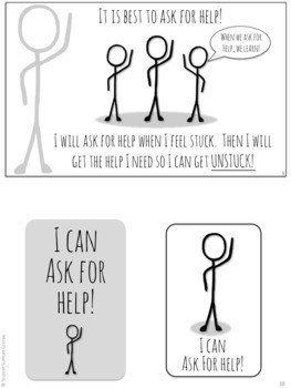 I Can Ask For Help! Social Narrative - Social Story - Self-Advocacy