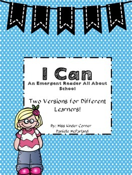 """""""I Can"""" Back to School Book"""