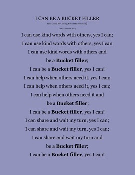 I Can Be A Bucket Filler