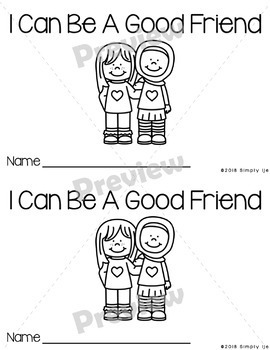 I Can Be A Good Friend | Emergent Readers | Back to School