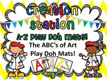I Can Be An Artist~ABC Play Doh Mats!