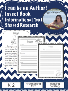 I Can Be An Author: Shared Research and Informational Text about Insects