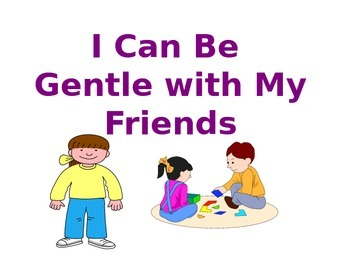 I  Can Be Gentle Free Social Story for Children with Autism