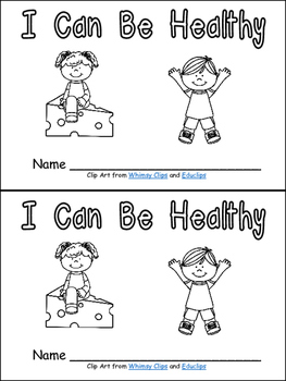 I Can Be Healthy Emergent Reader Kindergarten Habits Wellness