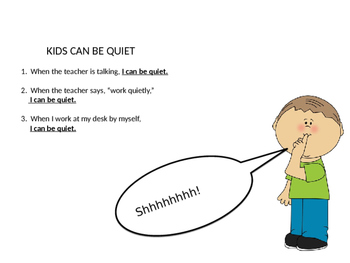 I Can Be Quiet In Class - Social Story