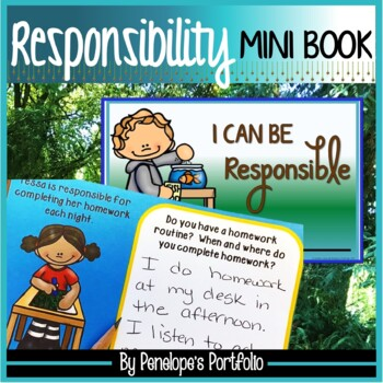 Character Education Responsibility Mini Book