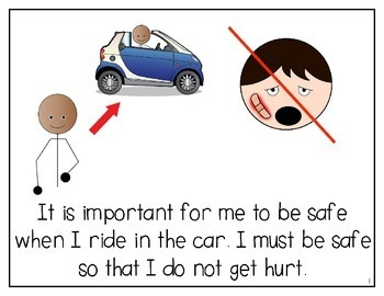 I Can Be Safe When I Ride in the Car SOCIAL STORY for Special Education