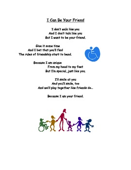 I Can Be Your Friend poem