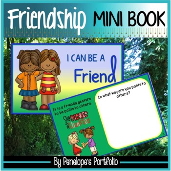 I Can Be a Friend Mini Book