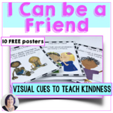 #kindnessnation I Can Be a Friend Posters Visual Cues for