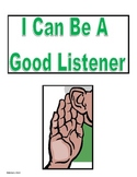 I  Can Be a Good Listener Social Story