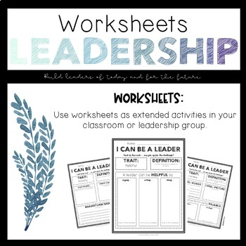 I Can Be a Leader: Worksheets