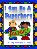 ADHD and Autism social situation task cards: I Can Be a Superhero!
