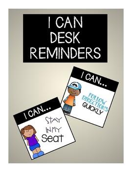 I Can Behavior Desk Reminders