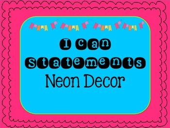 """""""I Can"""" Board Neon"""