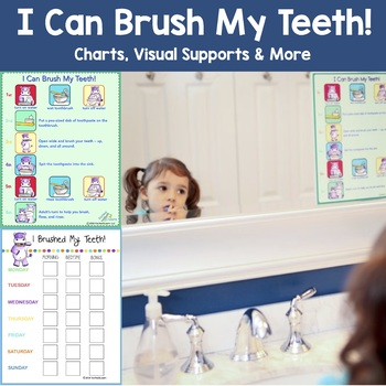I Can Brush My Teeth! chart (Brushing Teeth - A Poster for Proper Hygiene)