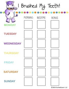 image about Printable Tooth Brushing Charts referred to as Enamel Brushing Charts