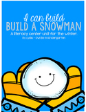 I Can Build A Snowman: A CVC and letter matching winter center set