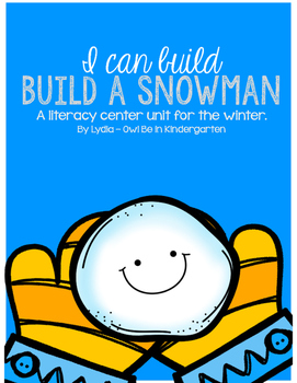 I Can Build A Snowman: A CVC and letter matching winter center set
