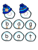 I Can Build A Snowman: A CVC and letter matching winter ce