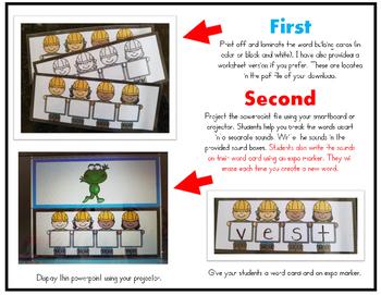 I Can Build CVCC & CCVC Words! POWERPOINT (Elkonin Sound Boxes Activity)