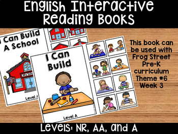 I Can Build English Interactive Reading Books Can Be Used With Frog Street