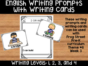 I Can Build English Writing Prompts & Writing Cards Can Be Used With Frog Street