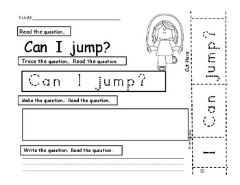 I Can Build Questions Too!  PreK., K., First, SPED