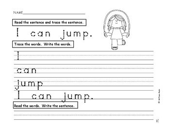 I Can Build Sentences! Bk.2 PreK., Kindergarten, First, SPED