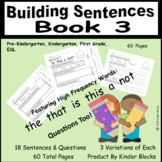 I Can Build Sentences! Bk.3 - PreK., Kindergarten, First, SPED