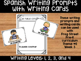 I Can Build Spanish Writing Prompts & Writing Cards Can Be