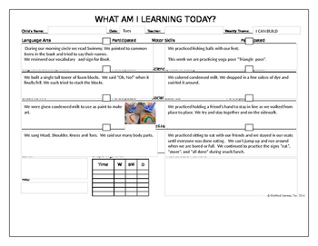 I Can Build theme lesson plans and vocabulary