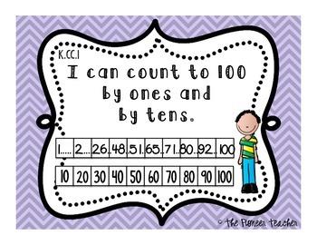 """I Can"" CCLS Statements {Kindergarten Math and ELA}"