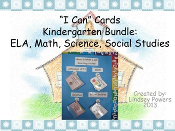 """I Can"" Cards for Kindergarten Bundle"