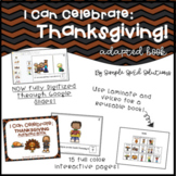 I Can Celebrate: Thanksgiving! DIGITAL Adapted Book for Sp