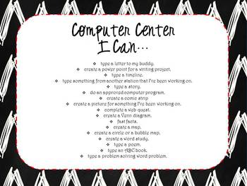 I Can... Center Signs or Station Signs {Editable}