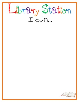 I Can Charts for Literacy Stations