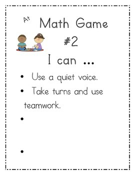 I Can Charts for Math Stations