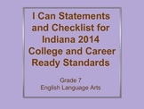 I Can Checklist and Cutouts for 2014 Indiana Standards - 7