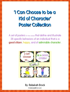 I Can Choose to be a Kid of Character Poster Collection