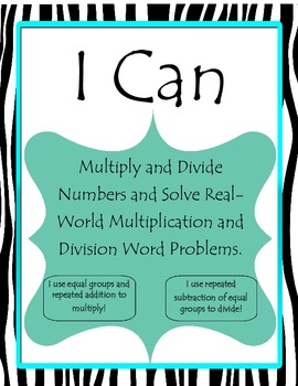 I Can Chpt Objectives 2nd Grade Singapore 2013 Math in Focus® Black White Teal