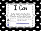 I Can Chpt Objectives 2nd Grade Singapore 2013 Math in Focus® Blk/Wht Polka Dots