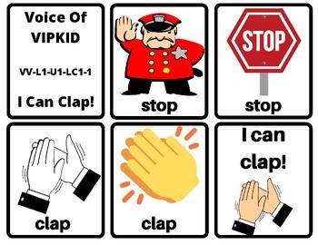 I Can Clap- Voice Of VIPKID Flash Cards & Reward Stars