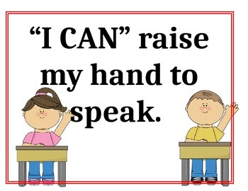 """""""I Can"""" Classroom Rules"""