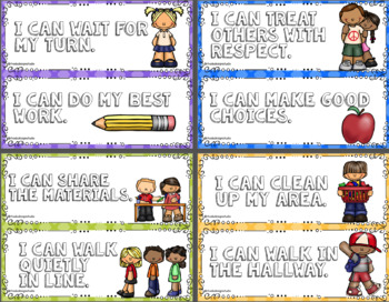 I Can Classroom Rules Posters Set Positive Statements