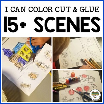 I Can Color, Cut, and Paste a Scene