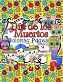 Dia de los Muertos Coloring Sheets